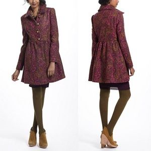 Anthro Plenty Tracy Reese Princess Coat NWT